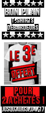 Bon plan T-Shirts ! 2 T-shirts Achetés = 1 offert !